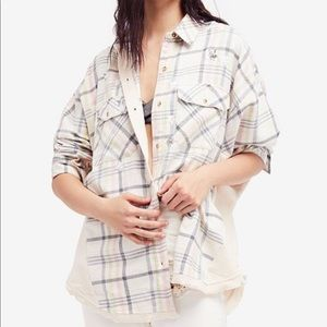 Free People Constellation Within Oversized Flannel